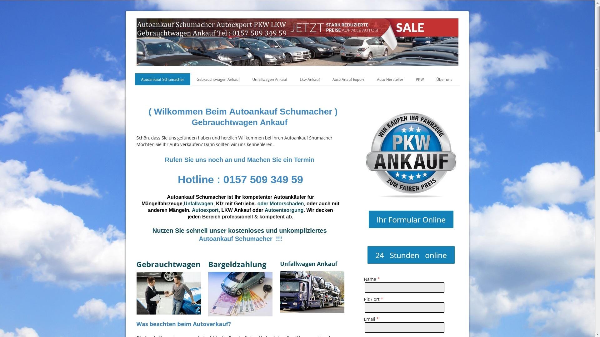 https://www.autoankauf-schumacher.de - Autoankauf Greven
