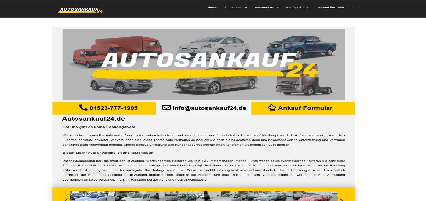 autosankauf24.de Autoankauf LKW Ankauf